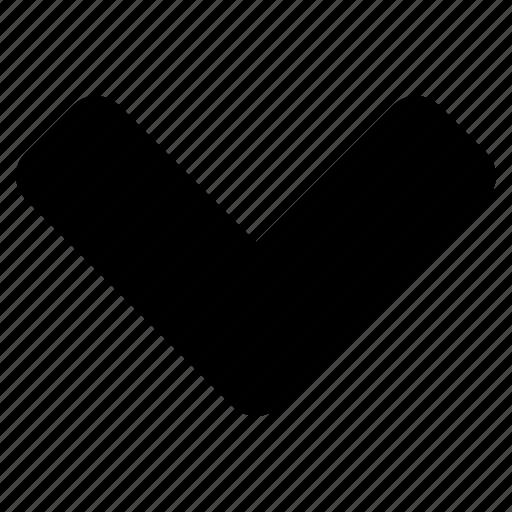 arrow, chevron, down, next icon