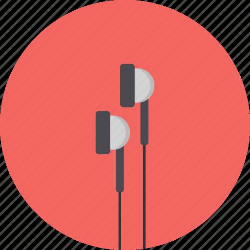 earbuds, earphones, earpieces, earplug, hands fr icon