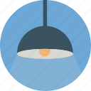 dinner lamp, hanging lamp, lamp, lightbulb icon icon