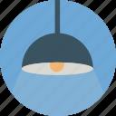 dinner lamp, hanging lamp, lamp, lightbulb icon icon