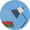 book, education, lamp, night, school, study icon icon