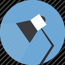desk lamp, lamp, light, reading lamp icon icon