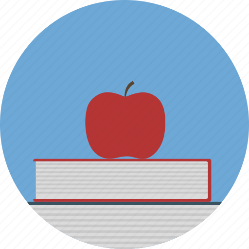 apple, book, education, idea icon icon