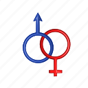 cartoon, female, male, man, object, sign, woman icon