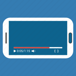 media, mobile, phone, play, video, youtube icon icon