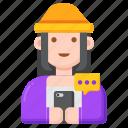 digital, native, female icon