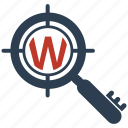 business, internet, keyword, marketing, optimization, seo, targeting icon