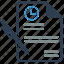 contact, contract, long, marketing, seo, term, web icon