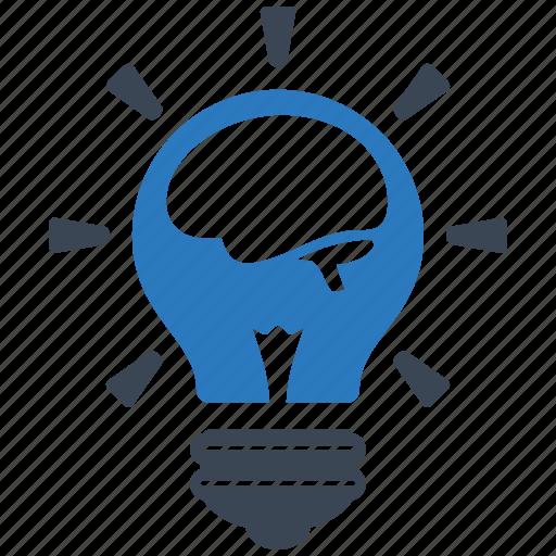 brain, bulb, creative, fresh, idea, lamp, think icon