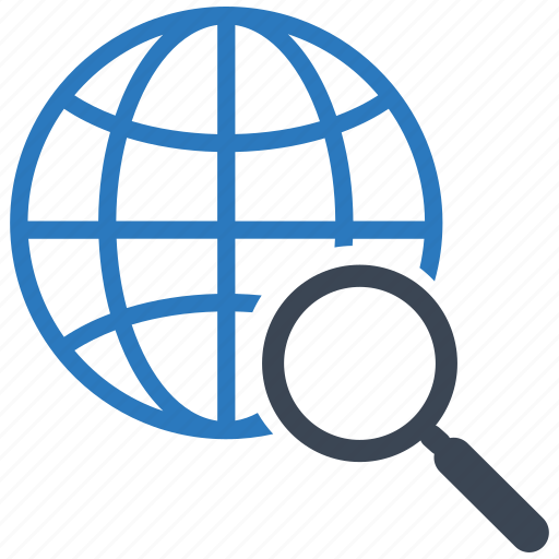 communication, global, magnifier, search, seo, web, zoom icon