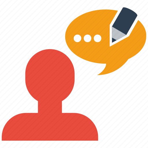 blog, business, commenting, internet, office, post, web icon