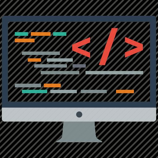 code, coding, custom, development, programming, seo, web icon