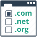 domain, register, registration, seo, url, website, www icon
