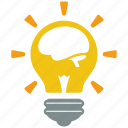 brain, bulb, creative, fresh, idea, lamp, light icon