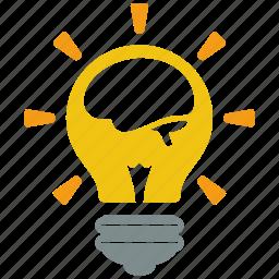 brain, bulb, creative, fresh, idea, lamp, light icon