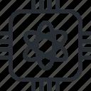 quantum, network, computing, computer, internet, chip, database icon