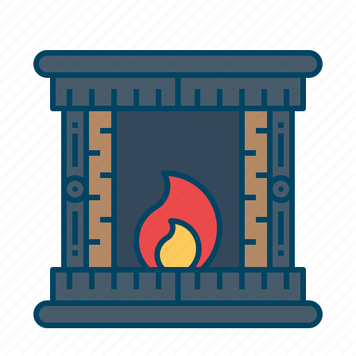 burning, fire, stove, warm, wood icon