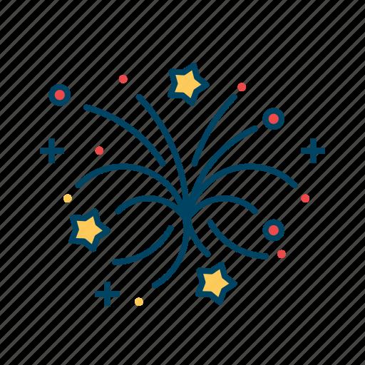 atasbaji, decoration, elements, fireworks, party icon