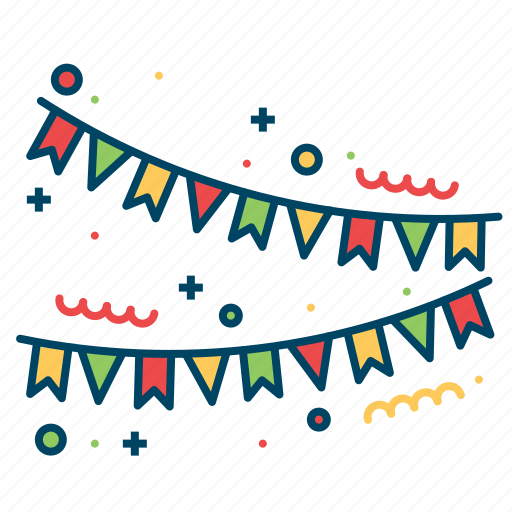 Celebration, decoration, party, popper icon