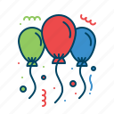 balloon, celebration, christmas, decoration, party icon