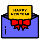 envelope, letter, mail, message, new, year icon