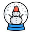 snowman, ball, christmas decorations, christmas, xmas, winter, snow