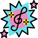 celebration, music, new year, party, song icon
