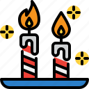 candle, christmas, holiday, new year, winter icon