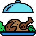 celebration, chicken, food, meat, party, roast, turkey icon