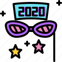 fancy, fashion, glasses, new year, party icon