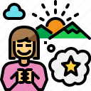 new year, star, wish, wishlist icon
