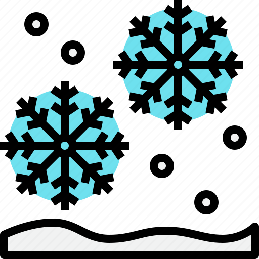 christmas, new year, snow, snowflake, weather, winter icon