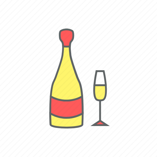 celebration, champagne, eve, event, glass, martini, new year icon