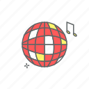ball, celebration, disco, eve, event, new year, party icon