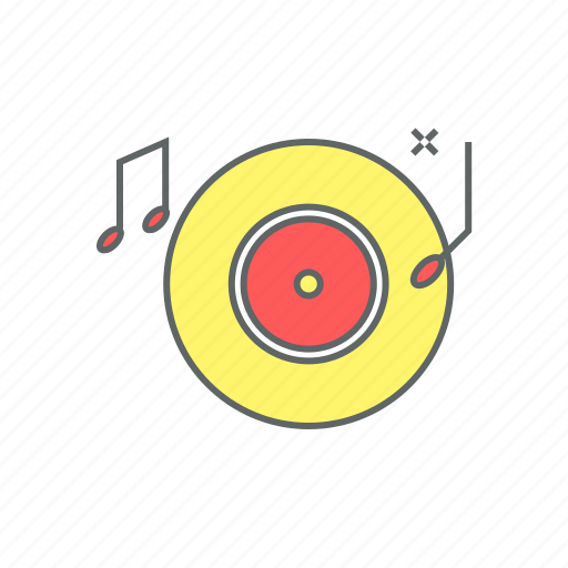 eve, music, new year, note, party, record, sound icon