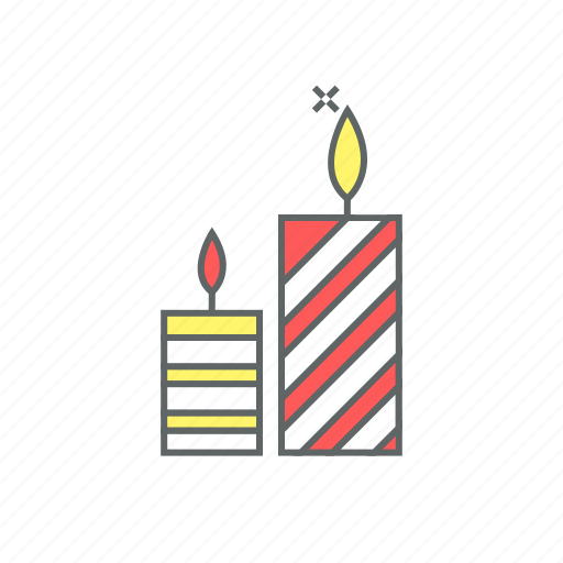 candle, christmas, eve, flame, heat, new year, sparkle icon