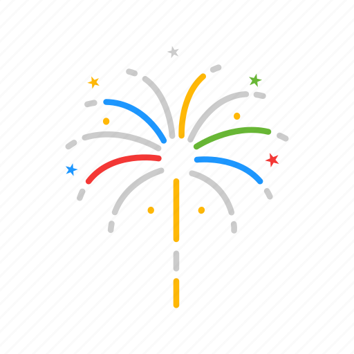 celebration, explosion, fireworks, sparkler icon