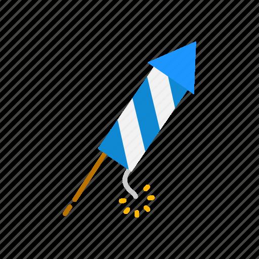 bottle rocket, fireworks, lights, party icon