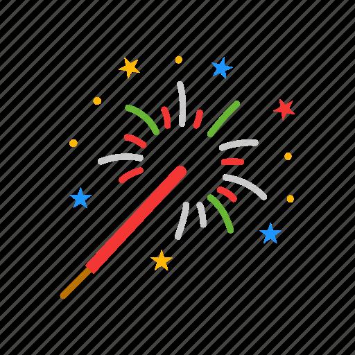 celebration, fireworks, lights, sparkling icon