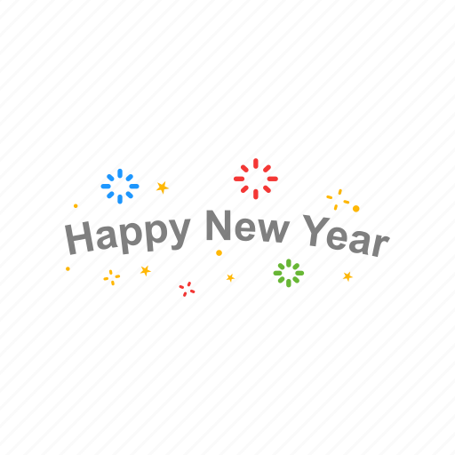 banner, happy new year, new year, party icon