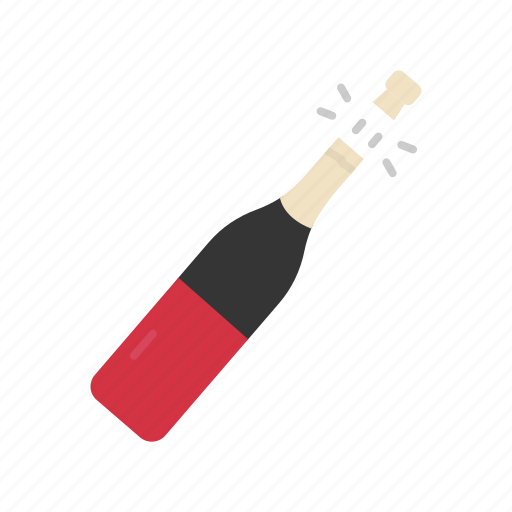 bottle, glass, red wine, wine icon
