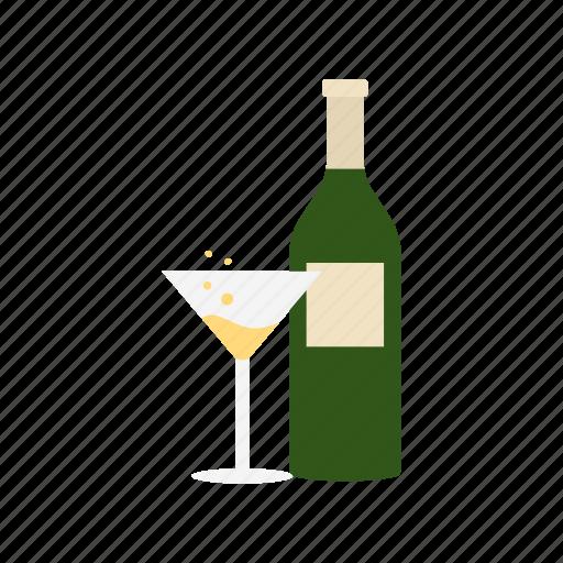 martini, sparkling wine, white wine, wine icon