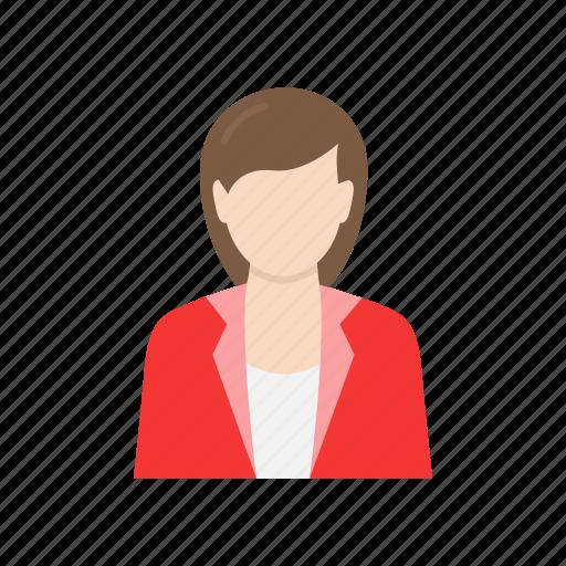 business woman, corporate attire, girl, woman icon
