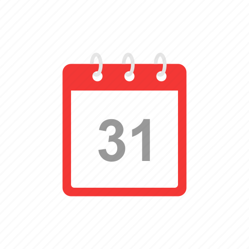 calendar, date, new year's eve, thirty one icon