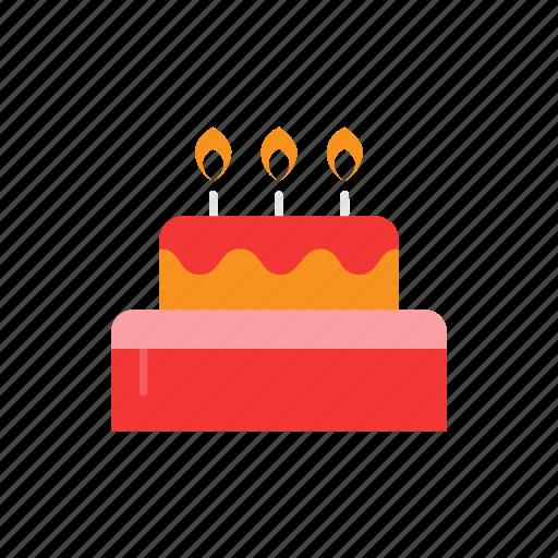birthday cake, cake, celebration, dessert icon