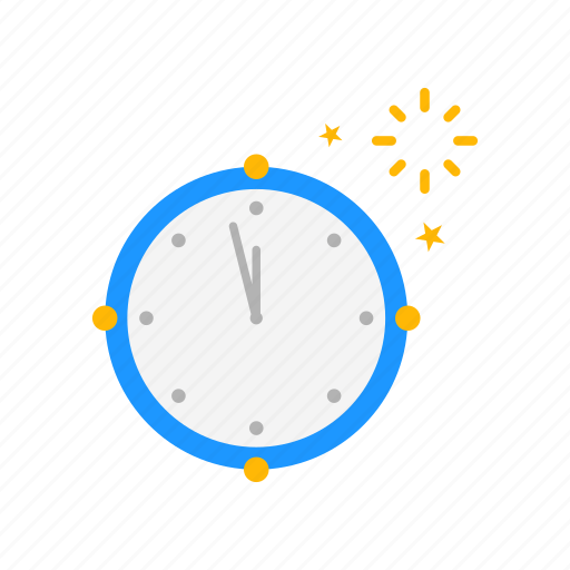 Clock, new year\'s eve, time, year icon