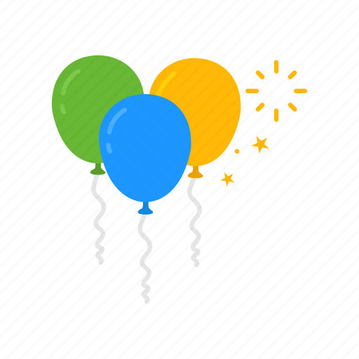 balloon, birthday, new year, party icon