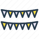 bunting, celebration, decoration, flag, party icon