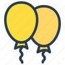 balloon, celebration, decoration, event, party icon