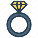engagement, jewel, marriage, pearl, ring icon
